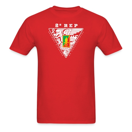 2e REP Badge - Foreign Legion - T-Shirt - Front & Back - Men's T-Shirt