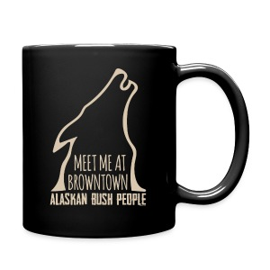 Meet me at browntown wolf - Full Color Mug