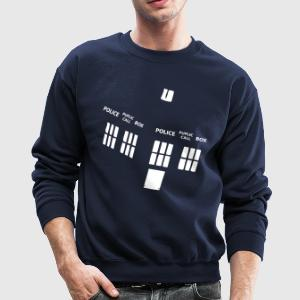 tardis Long Sleeve Shirts - Crewneck Sweatshirt