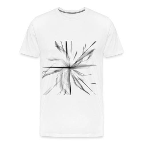 Gray Pencil Sketch o fFlower - Men's Premium T-Shirt