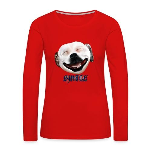 Pit Bull Smile-Brightest - Women's Premium Long Sleeve T-Shirt