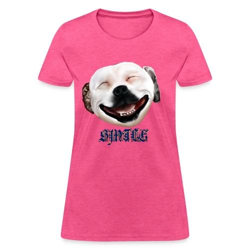 Pit Bull Smile-Brightest - Women's T-Shirt