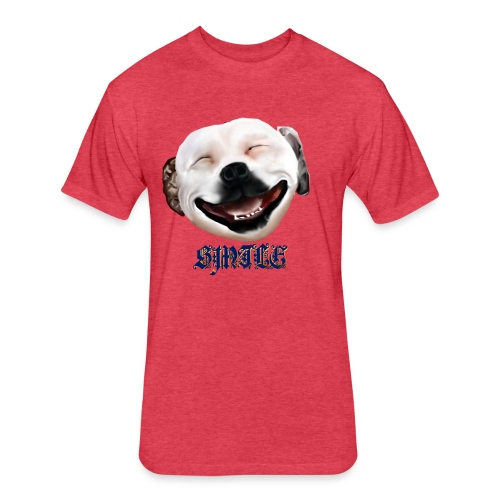 Pit Bull Smile-Brightest - Fitted Cotton/Poly T-Shirt by Next Level
