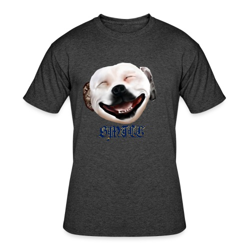 Pit Bull Smile-Brightest - Men's 50/50 T-Shirt