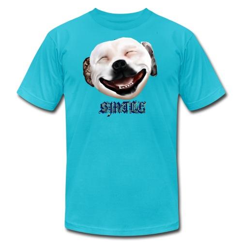 Pit Bull Smile-Brightest - Men's  Jersey T-Shirt