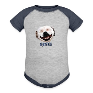 Pit Bull Smile-Brightest - Baby Contrast One Piece