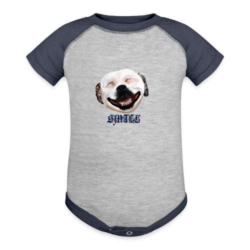 Pit Bull Smile-Brightest - Contrast Baby Bodysuit