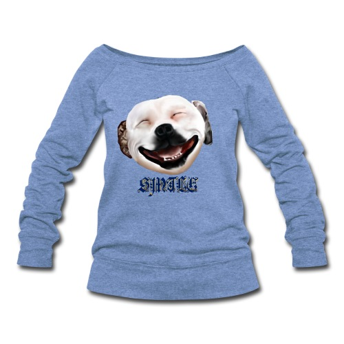 Pit Bull Smile-Brightest - Women's Wideneck Sweatshirt