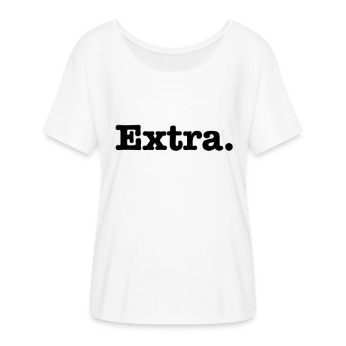 Extra, Black flows t-shirt  - Women's Flowy T-Shirt