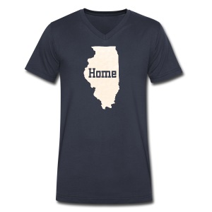 Illinois Home - Men's V-Neck T-Shirt by Canvas