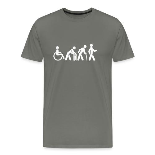 Premium Men's Tshirt - White Silhouette - Men's Premium T-Shirt
