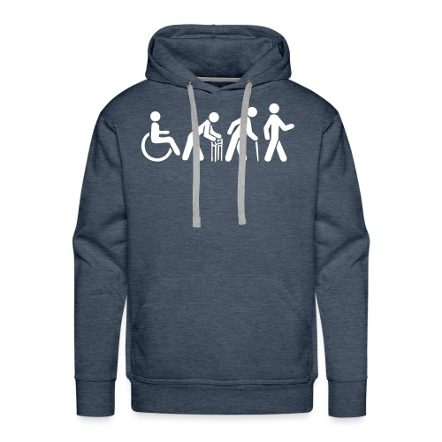 Premium Men's Hoodie - White Silhouette - Men's Premium Hoodie
