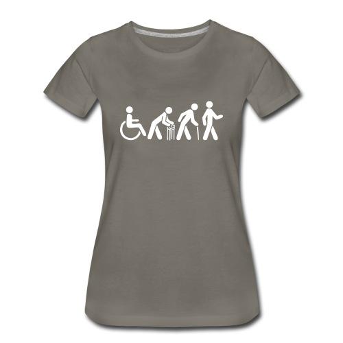 Premium Women's Tshirt - White Silhouette - Women's Premium T-Shirt