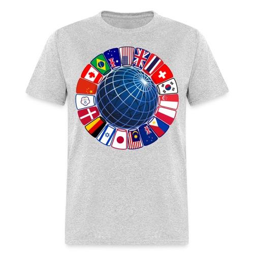 Sport Stacking - World Flags - Men's T-Shirt