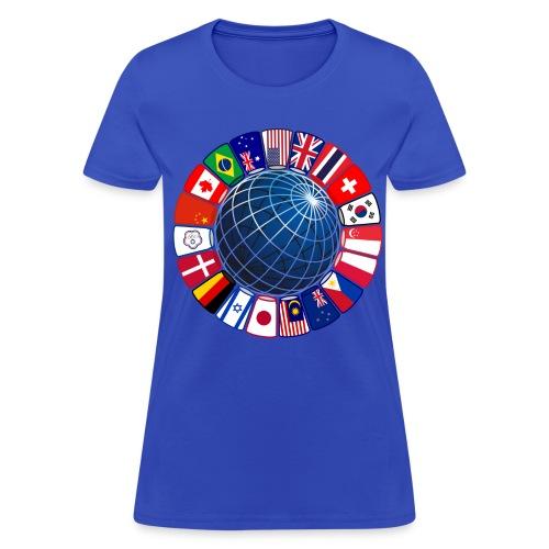Sport Stacking - World Flags - Women's T-Shirt