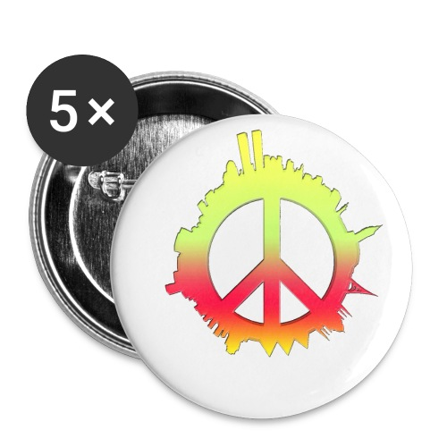 Peace Burst Buttons - Large Buttons