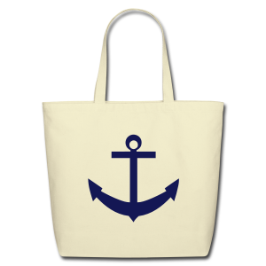 Tote bag with anchor - Eco-Friendly Cotton Tote