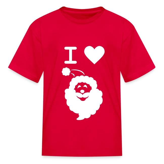 I LOVE SANTA CLAUS - Kid's T-Shirt