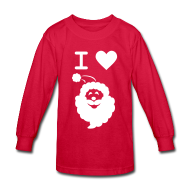Kids' Shirts ~ Kids' Long Sleeve T-Shirt ~ I LOVE SANTA CLAUS - Kid's Long-Sleeve