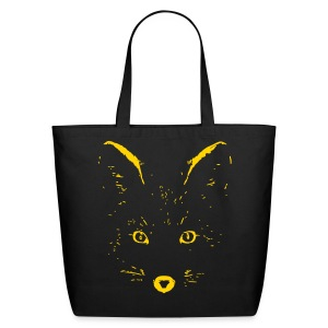 animal t-shirt fox jackal coyote wolf eyes shape - Eco-Friendly Cotton Tote