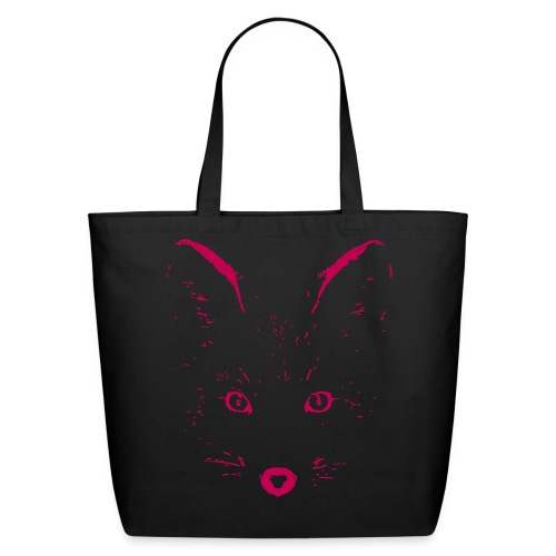 animal t-shirt fox jackal coyote wolf eyes shape - Eco-Friendly Cotton Tote