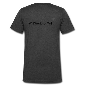 WILL WORK FOR WIFI - Men's V-Neck T-Shirt by Canvas