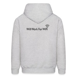 WILL WORK FOR WIFI - Men's Hoodie