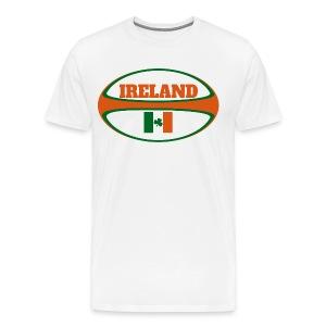 Ireland Rugby Ball T-Shirt - Men's Premium T-Shirt