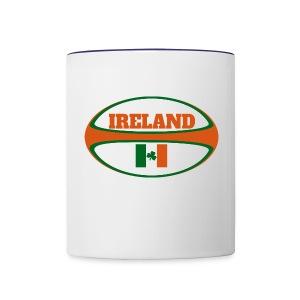 Ireland Rugby Ball Coffee Mug - Contrast Coffee Mug