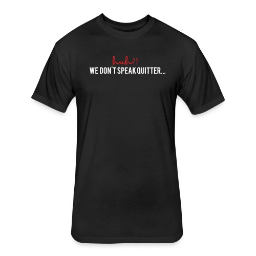 Men's Huh?? - Fitted Cotton/Poly T-Shirt by Next Level