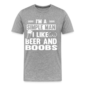 Beer and Boobs - Men's Premium T-Shirt