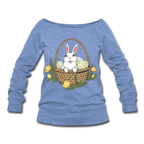 Women's Easter Shirts Easter Basket Sweatshirts - Women's Wideneck Sweatshirt
