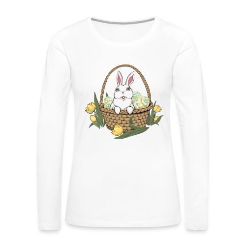 Women's Easter T-shirts Easter Bunny Basket Shirts - Women's Premium Long Sleeve T-Shirt