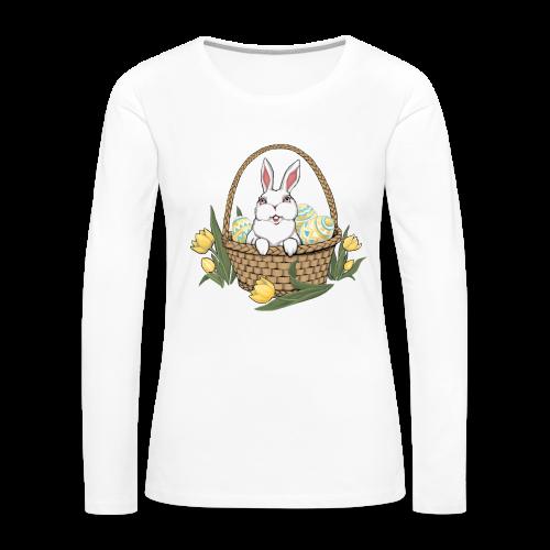 Women's Easter T-shirts Easter Bunny Basket Shirts - Women's Premium Long Sleeve T-Shirt