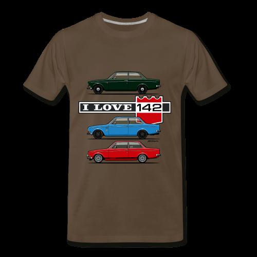I Love 142. 142 Coupe Trio - Men's Premium T-Shirt