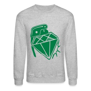 Men's Lightweight crewneck sweatshirt diamond grenade | Major Tees - Crewneck Sweatshirt