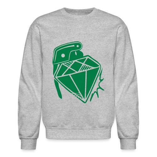 Men's Lightweight crewneck sweatshirt diamond grenade | Major Tees - Crewneck Sweatshirt