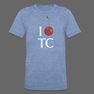 I Cherry TC - Unisex Tri-Blend T-Shirt by American Apparel