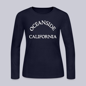 Oceanside California - Women's Long Sleeve Jersey T-Shirt