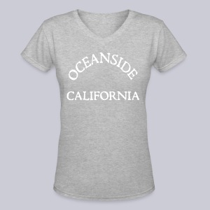 Oceanside California - Women's V-Neck T-Shirt