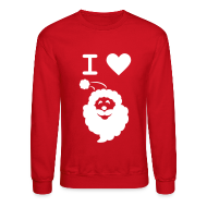 Long Sleeve Shirts ~ Crewneck Sweatshirt ~ I LOVE SANTA CLAUS - Men's' Sweatshirt