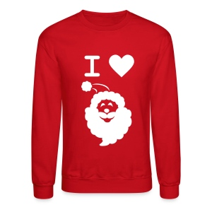 I LOVE SANTA CLAUS - Men's' Sweatshirt - Crewneck Sweatshirt