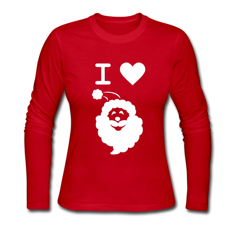 I LOVE SANTA CLAUS - Women's Long-Sleeve - Women's Long Sleeve Jersey T-Shirt