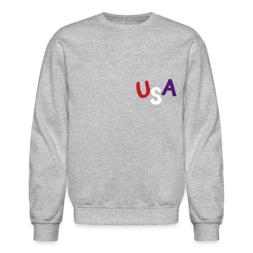 USA Sweatshirt (Velvet Print) - Crewneck Sweatshirt