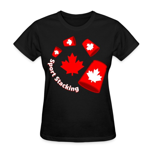 Sport Stacking - Maple Leaf - Women's T-Shirt