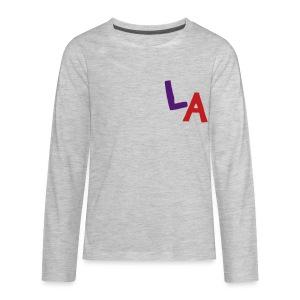 LA Sweatshirt (Velvet Print) - Kids' Premium Long Sleeve T-Shirt