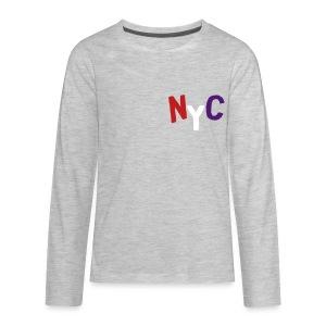 NYC Sweatshirt (Velvet Print) - Kids' Premium Long Sleeve T-Shirt