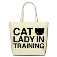 Bags & backpacks ~ Eco-Friendly Cotton Tote ~ Cat Lady in Training
