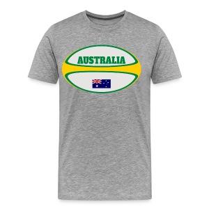 Australia Flag Rugby Ball T-Shirt - Men's Premium T-Shirt