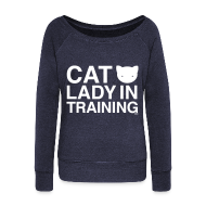 Long Sleeve Shirts ~ Women's Wideneck Sweatshirt ~ Cat Lady in Training
